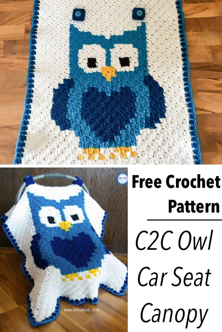 Crochet Owl Car Seat Canopy Left In Knots Complete