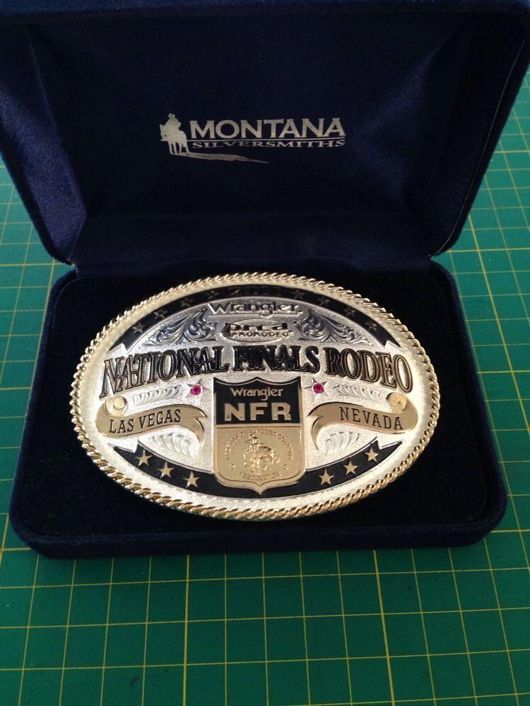 Montana Silversmiths Nfr Prca Belt Buckle 2011 Las Vegas