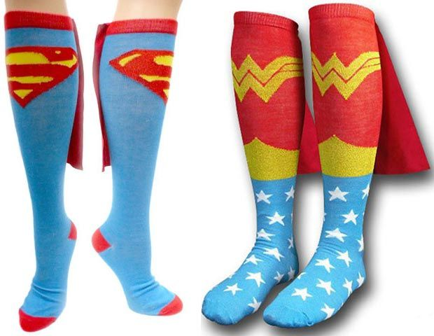 Superman Style: Cool Socks with Capes-Global Intimate Wear