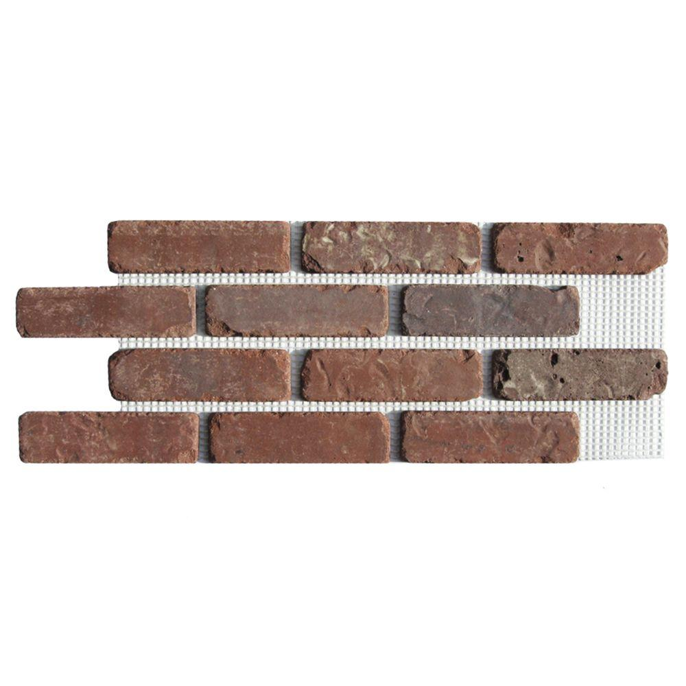 Old Mill Brick Brickwebb Boston Mill Thin Brick Sheets Flats Box Of 5 Sheets 28 In X 10 5 In 8 7 Sq Ft Bw 37001cs The Home Depot In 2020 Brick Paneling Thin Brick Thin Brick Veneer