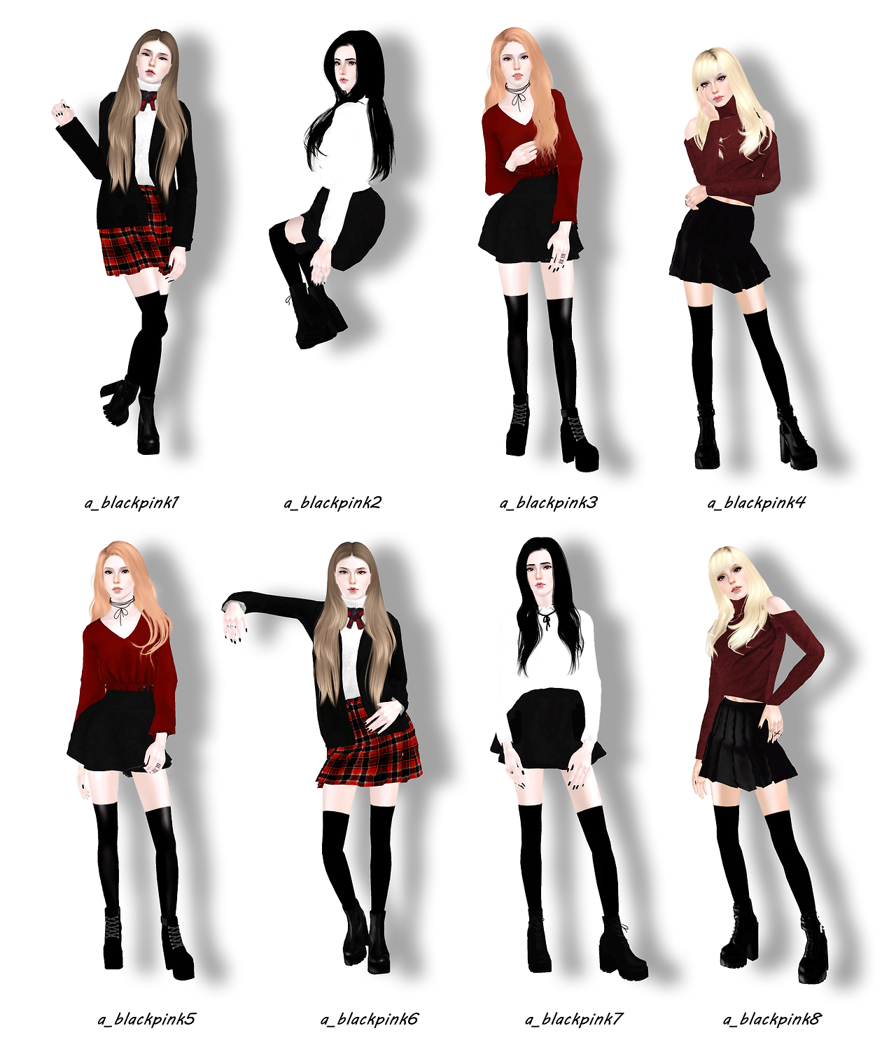 blinksims blackpink pose pack this pose pack was inspired by