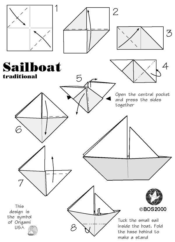 Bateau Simple En Origami 1 Bateau Papier Origami Facile Origami Bateau