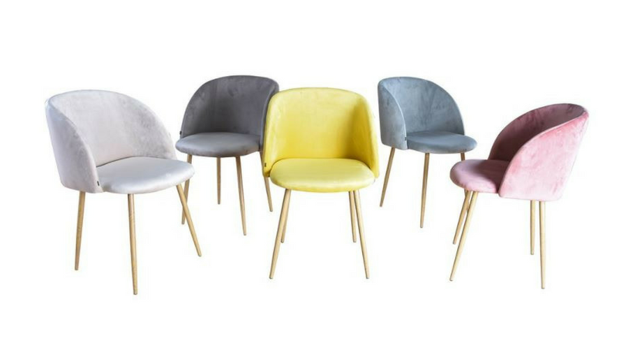 Blauwe Design Stoelen.Eetkamerstoel Ingo Velours Velvet Stof Roze Stoelen In 2019