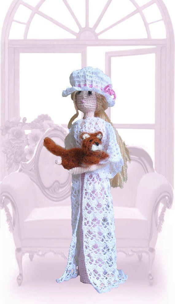 Cloth doll Art Rag doll Crocheted doll Decorative by ViDollStudio