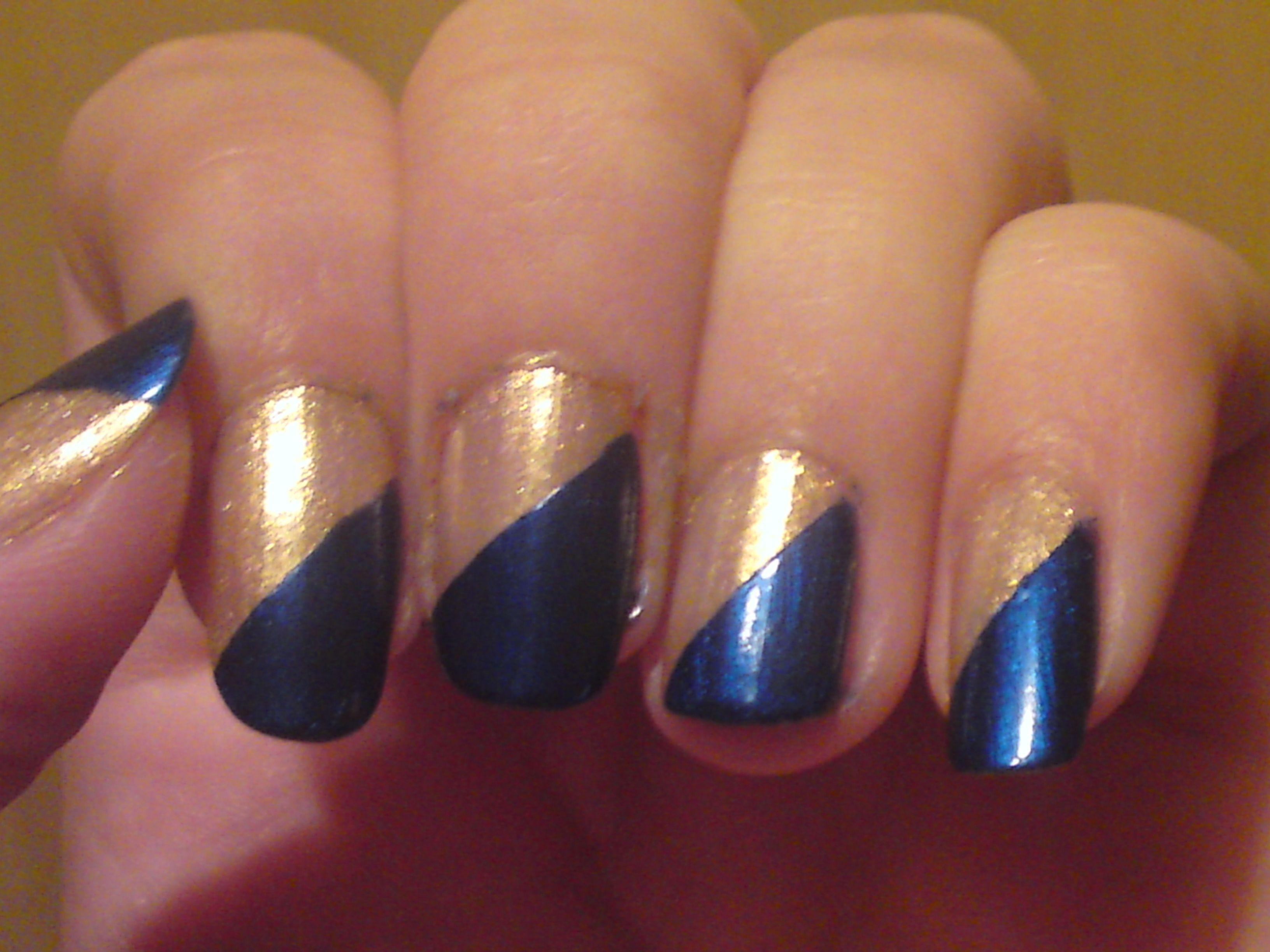 Best of 2011: Nailing It | Diagonal nails and Makeup