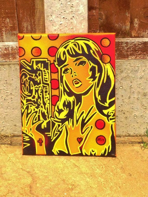 painting of comic woman on by AbstractGraffitiShop on Etsy, $40.00 ...