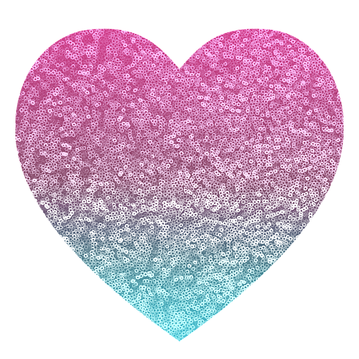 Imagen Gratis En Pixabay Brillo Rosa Azul Corazon Corazones Rosados Corazones Unas Azules