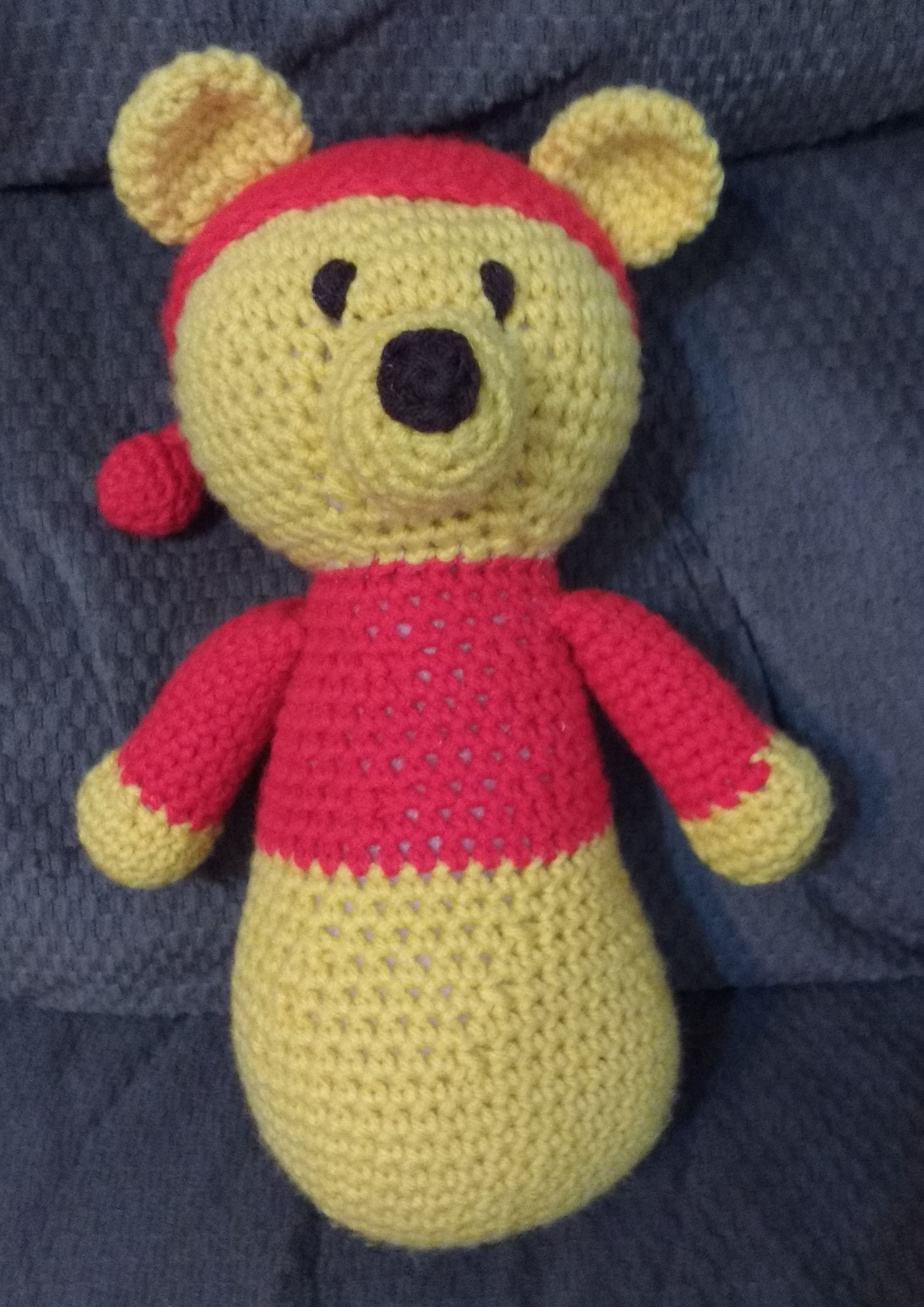 Crochet Project: Pooh Bear! I made this bear from a free pattern ...