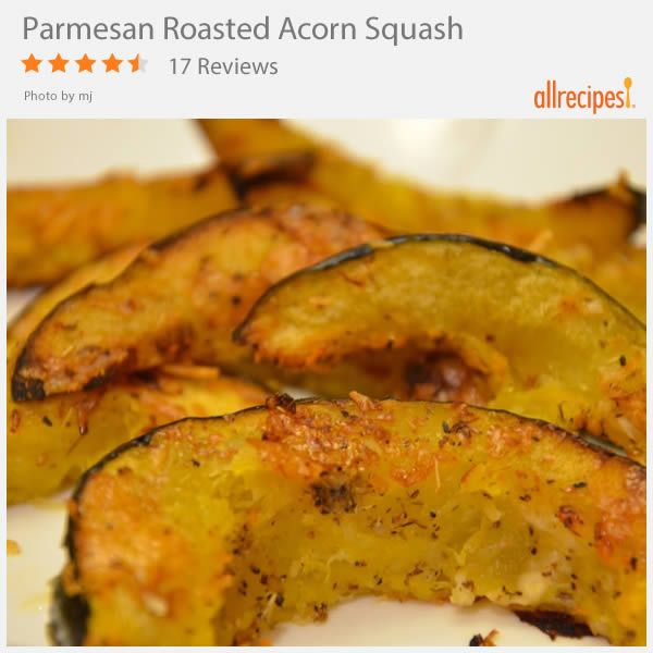 Parmesan Roasted Acorn Squash Recipe Acorn Squash Recipes