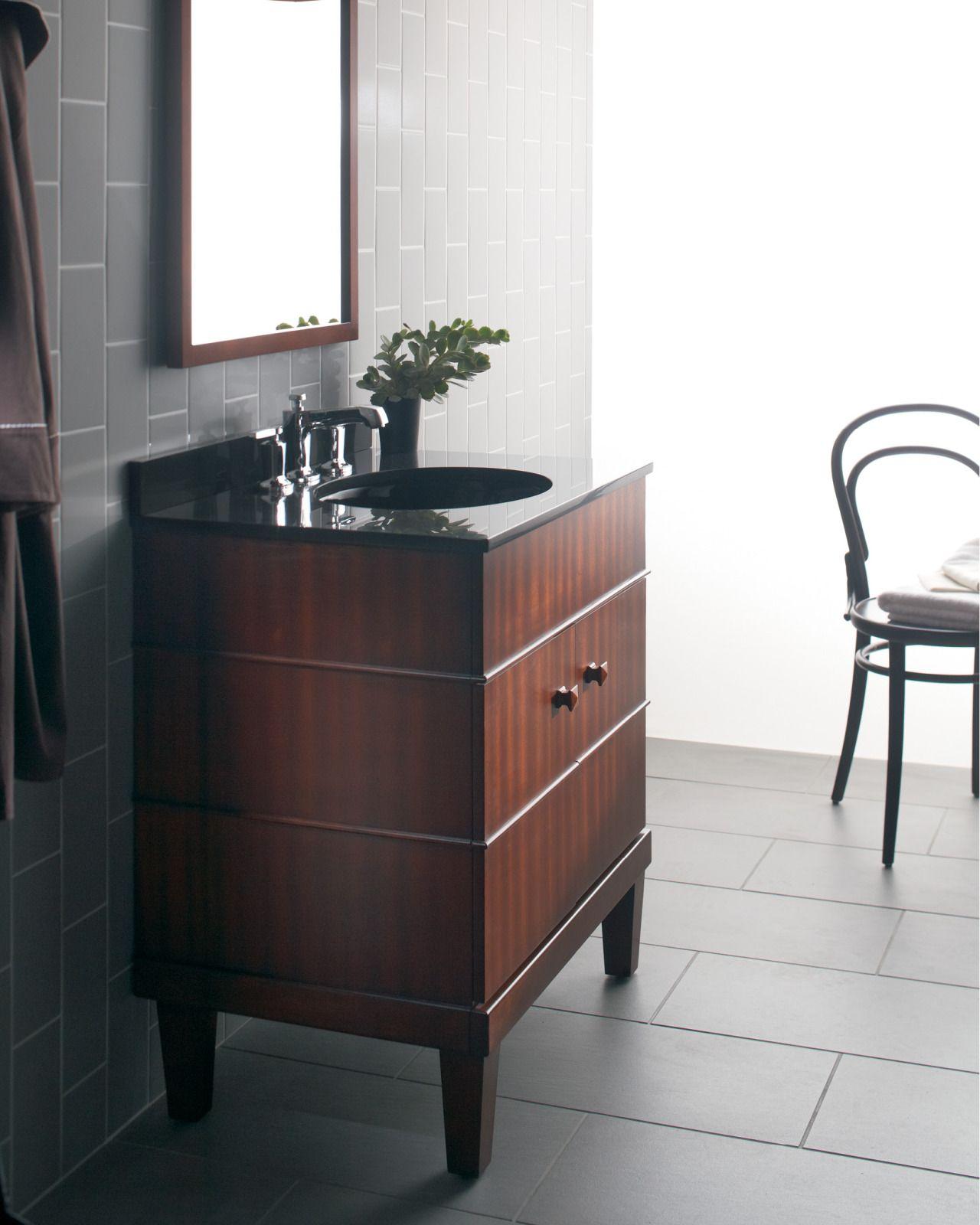 bold ideas from kohler  vanity minimalist bathroom