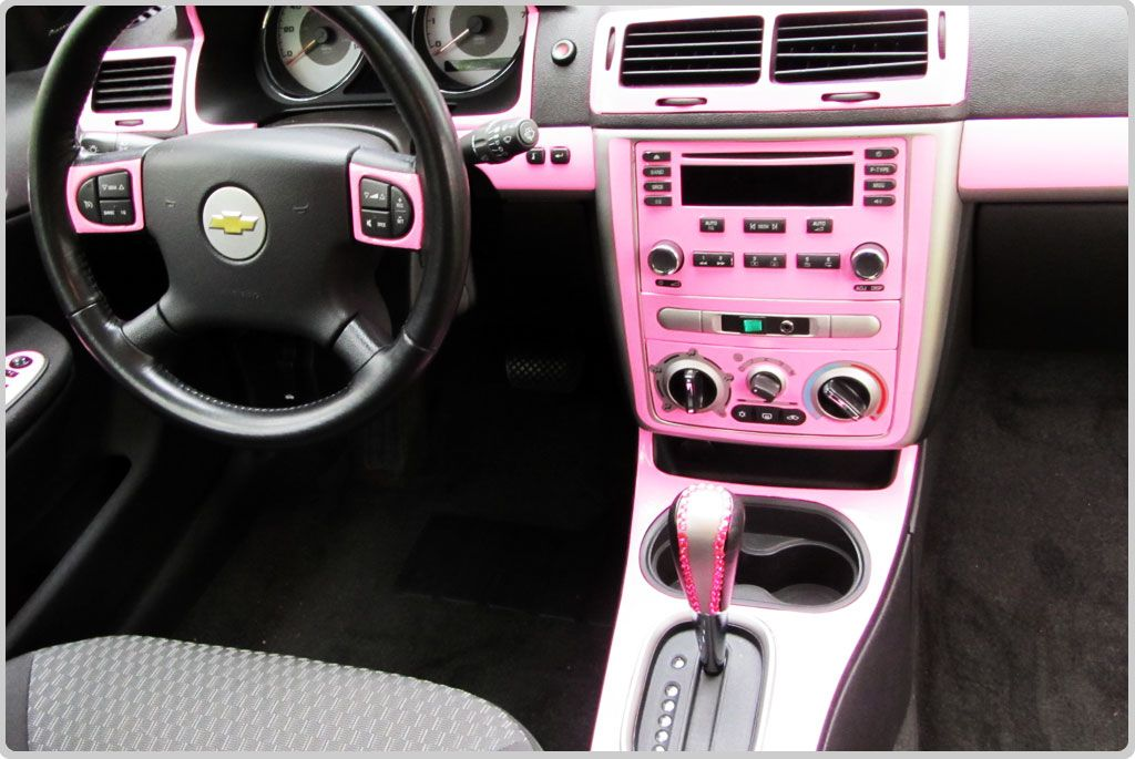Diy car pink interior chevrolet dash kits custom dash trim coches autos coches y carritos - Kit de interior ...