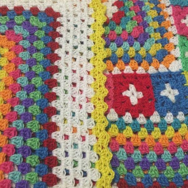 polkadottedrainbows crochet colorful granny   Crochet Blocks and ...