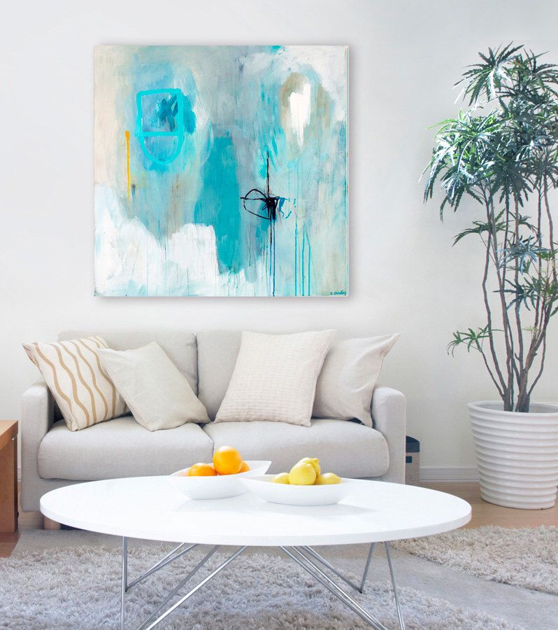 Large abstract art print modern minimalist artwork large contemporary abstract pastel wall art