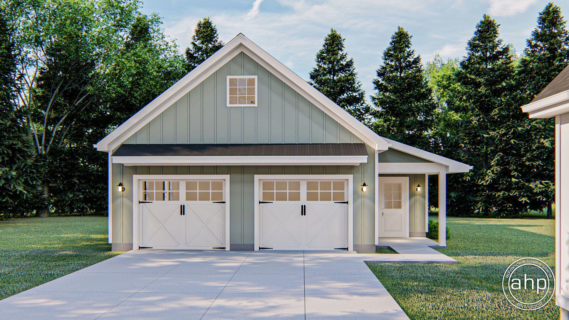 Modern Farmhouse Garage Plan Adkins In 2020 Farmhouse Garage Modern Farmhouse Garage Plans Detached