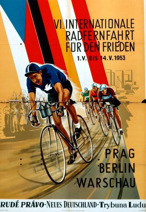 Velo Illustration 016 Berlin Prag Warschau 1953 Die