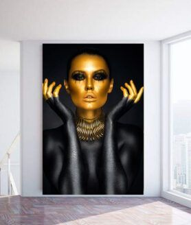 Alu art dark skinned girl close up – Purewood #darkskingirls Alu art dark skinne…