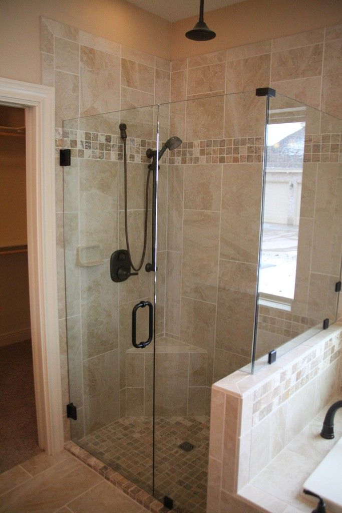 Walk In Shower Glass Enclosures For Small Master Bathrooms With