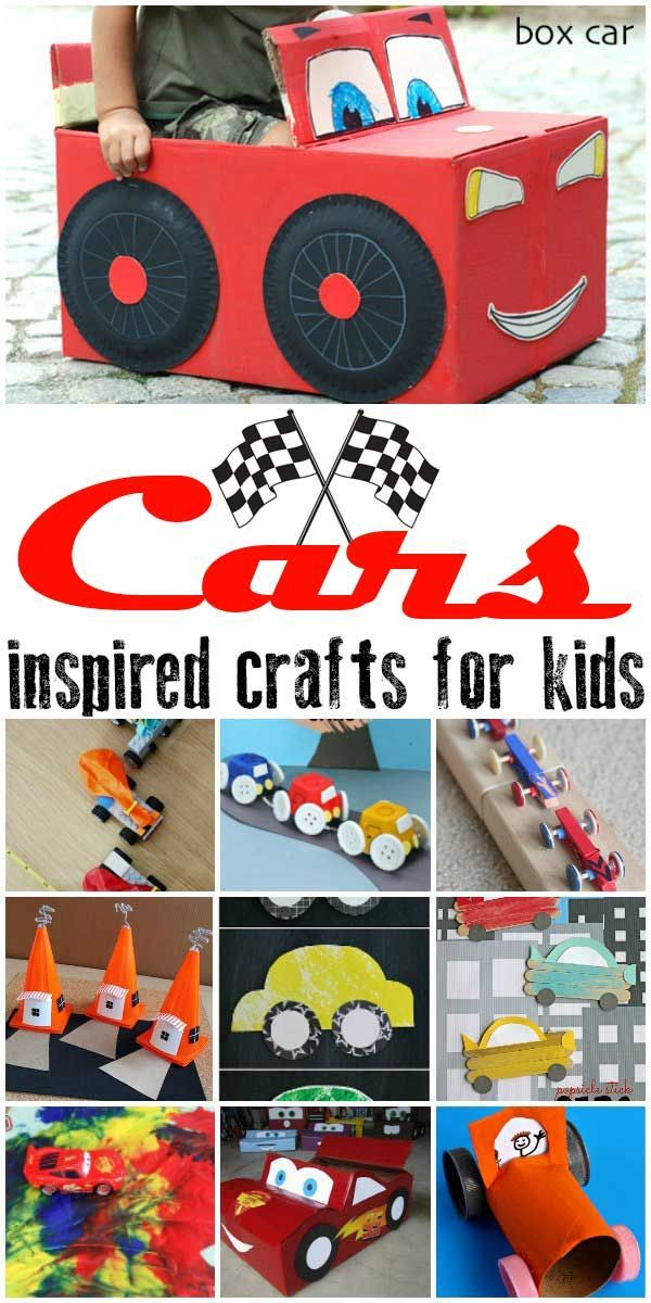 Cars Inspired Crafts For Kids Teaching Ideas Pinterest Crafts