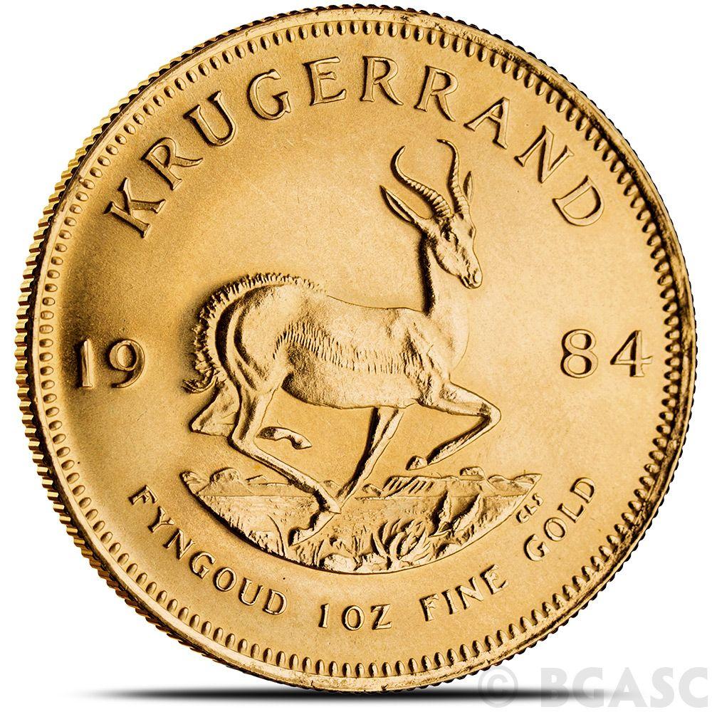 1 Oz Gold Krugerrand South African Bullion Coin Brilliant Uncirculated Random Year Bgasc Com Gold Krugerrand Silver Coins For Sale Bullion Coins