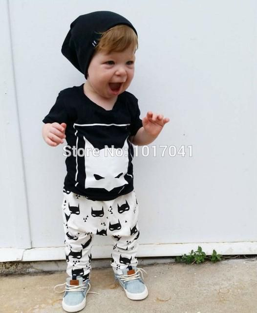 3d17c06348599 Summer style baby boy clothes cotton short sleeved t-shirt + pantsdresskily