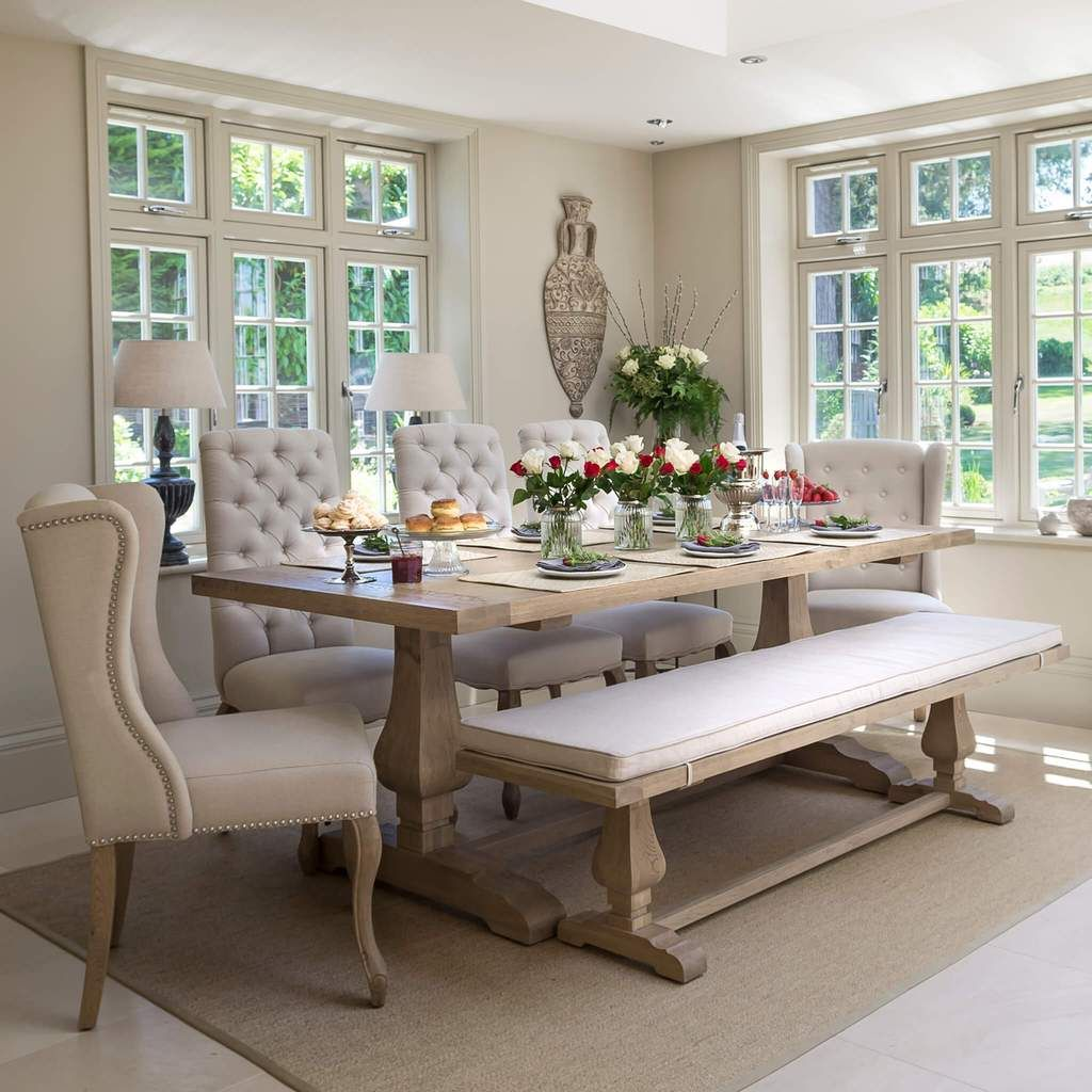 Belvedere Weathered Oak Dining Table With Images French Dining