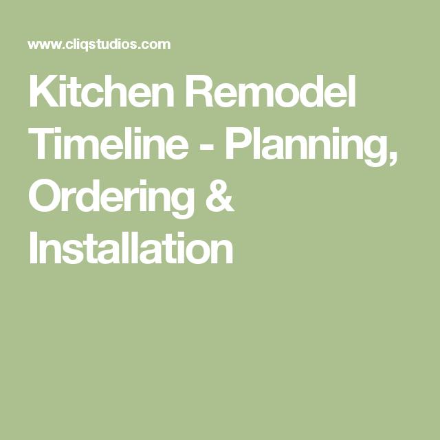 kitchen remodel timeline planning ordering installation remodel kitchen remodel timeline on kitchen remodel timeline id=26004