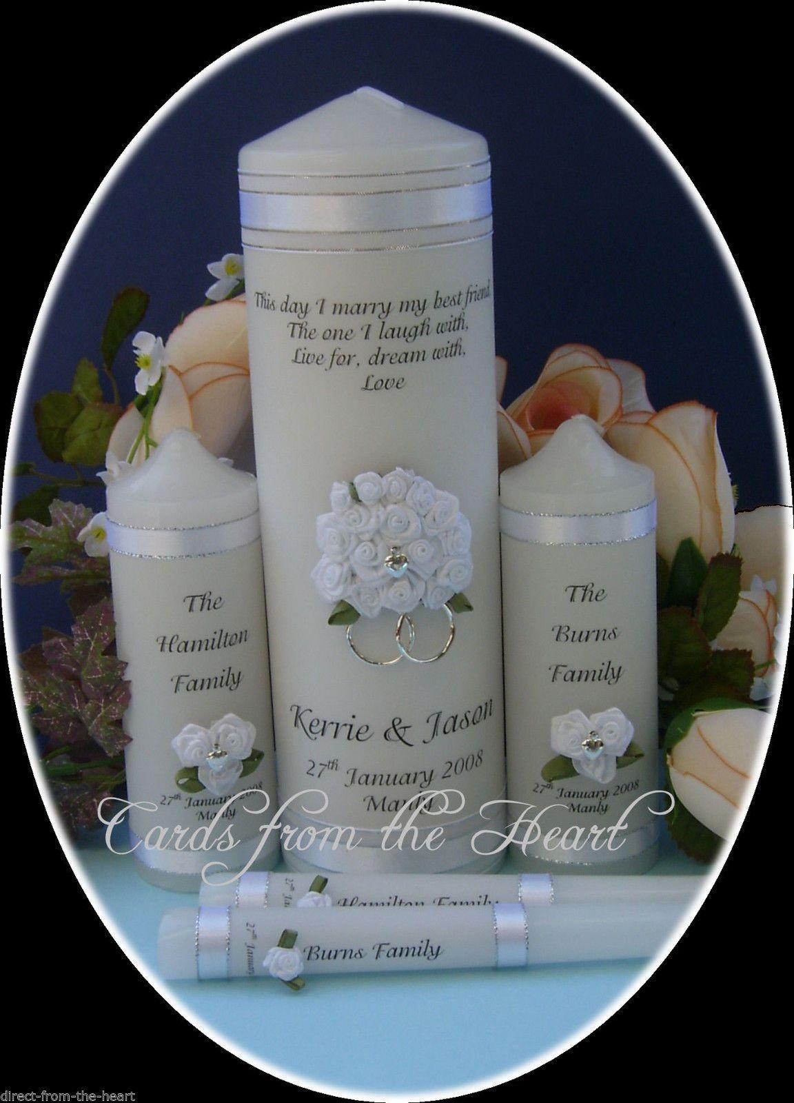 Personalised d candle setunity wedding bridal ceremony