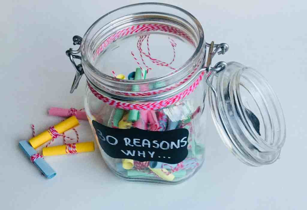 30 Reasons Why I Love You A Jar Of Love Notes For My Husband