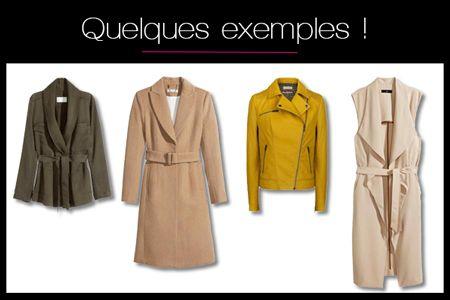 Manteau pour femme en v