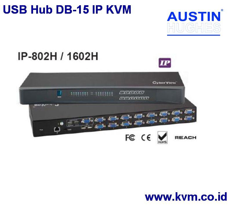 USB Hub DB-15 IP KVM   AUSTIN HUGHES KVM Switch