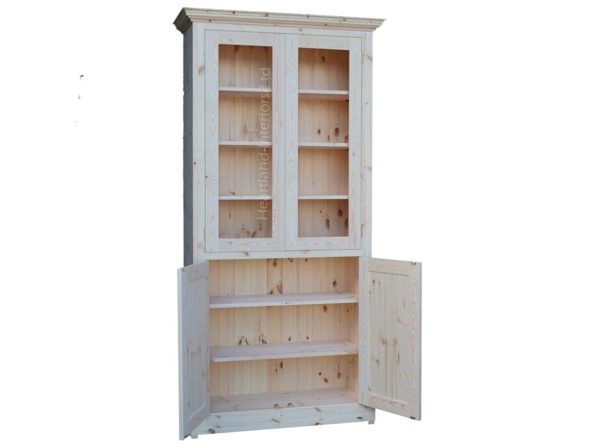Contemporary 7ft Tall 4 Door Glazed Display Storage Cabinet 7kpc4 Gl