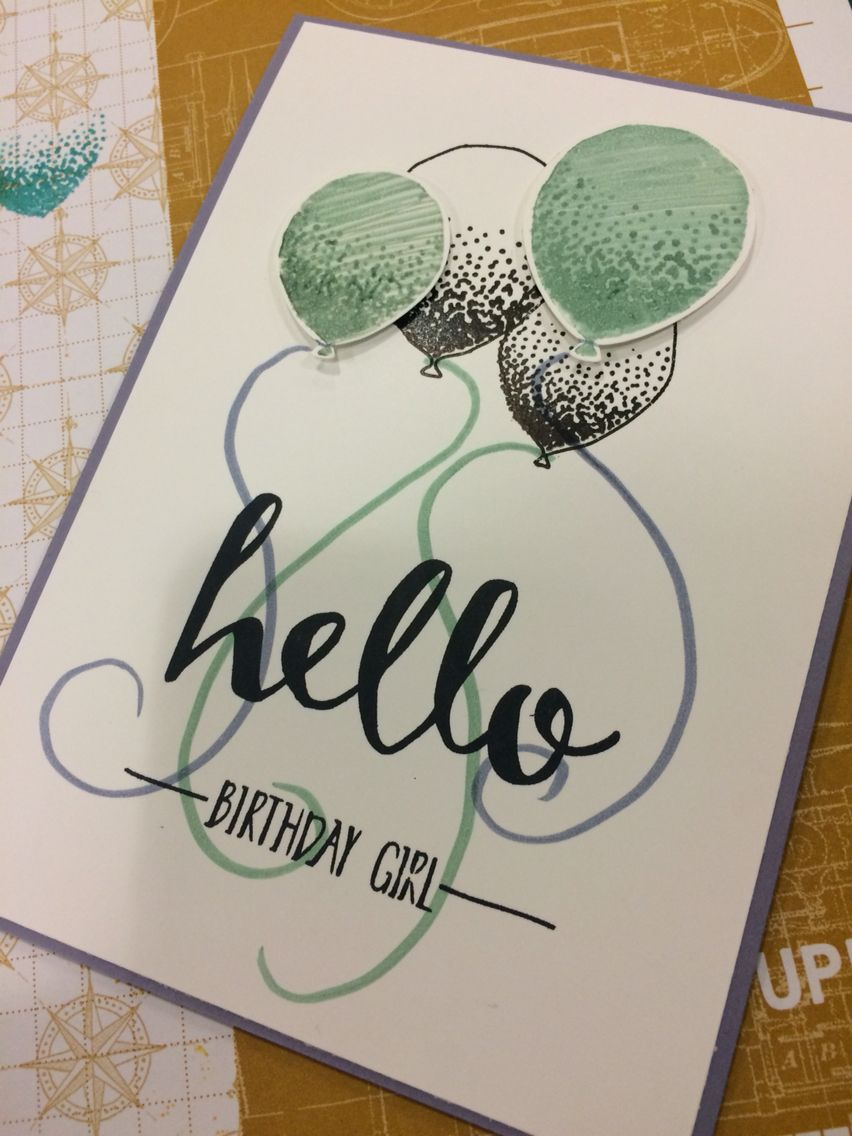 Stampin up birthday card balloons cards pinterest cards and craft