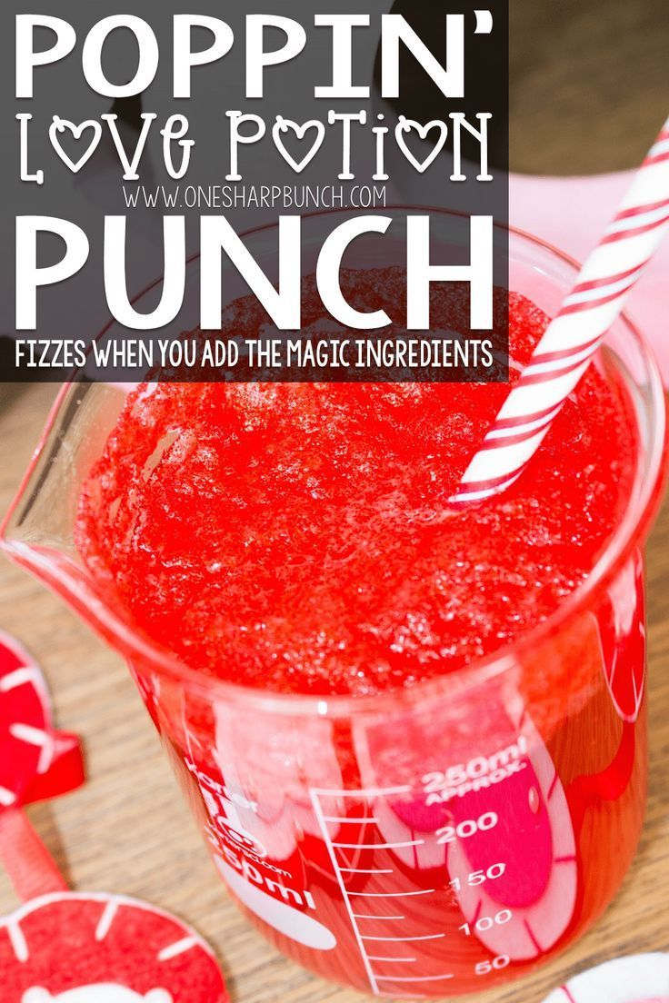 Poppin' Love Potion Punch Recipe Potions for kids