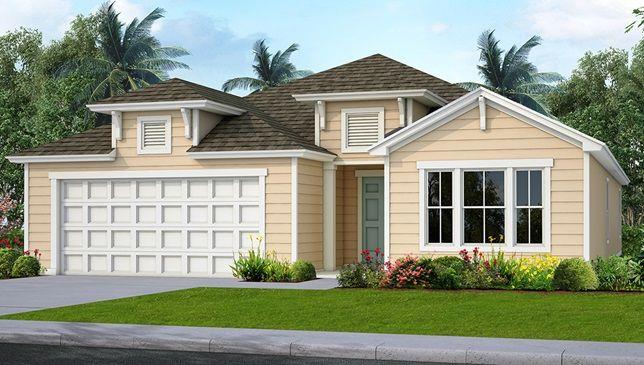 Lantana Key West Elevation Samara Lakes Wgv Area 454 Colorado Springs Way St Augustine Florida 32092 New Homes New Homes For Sale Outdoor Decor