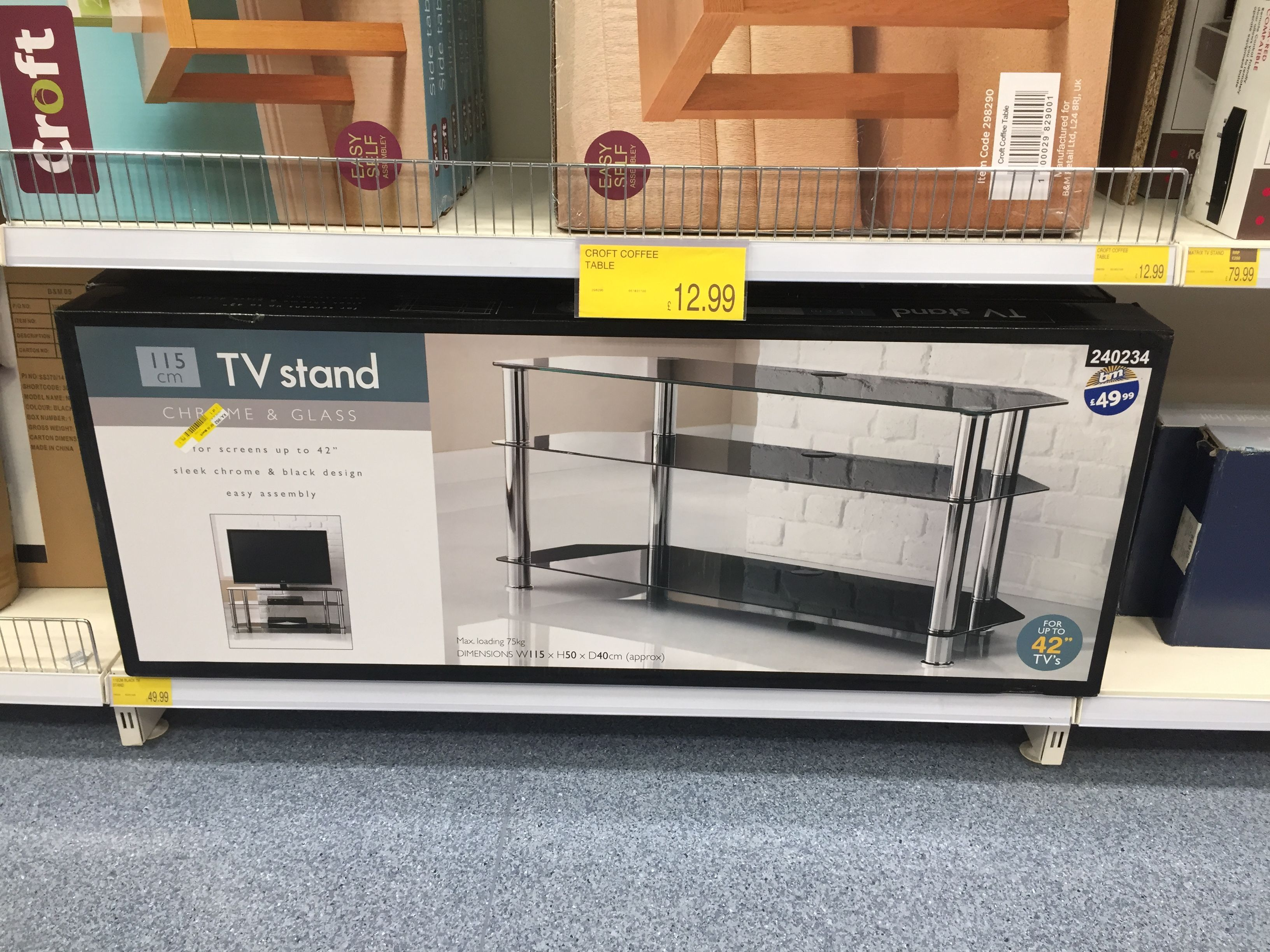 Glass TV Unit Bigger One B M Furniture Pinterest Cheap