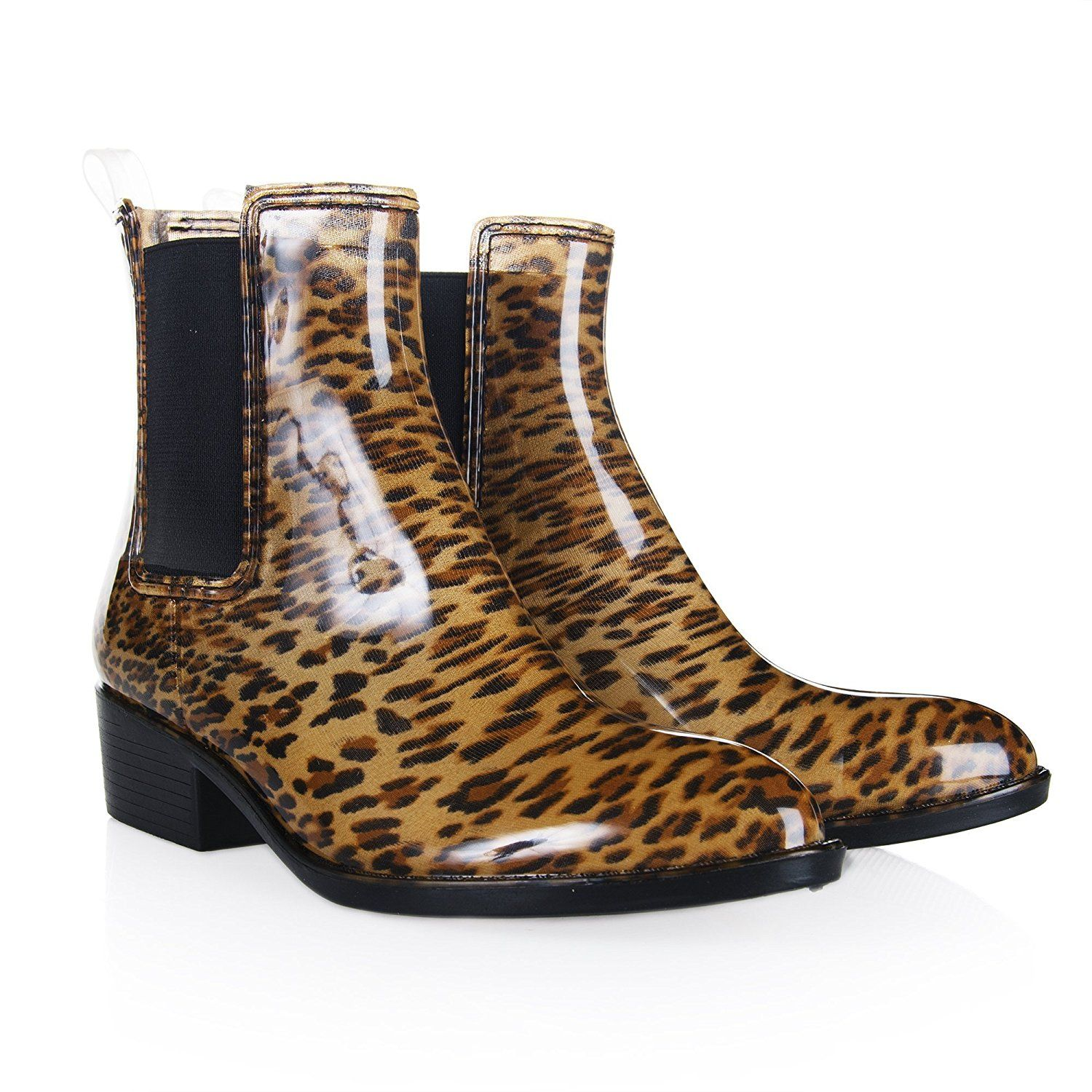 New Ladies Jelly Chelsea Almond Pointed Toe Rainboots