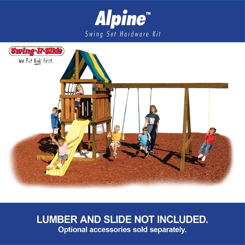 Alpine custom readytobuild swing set kit