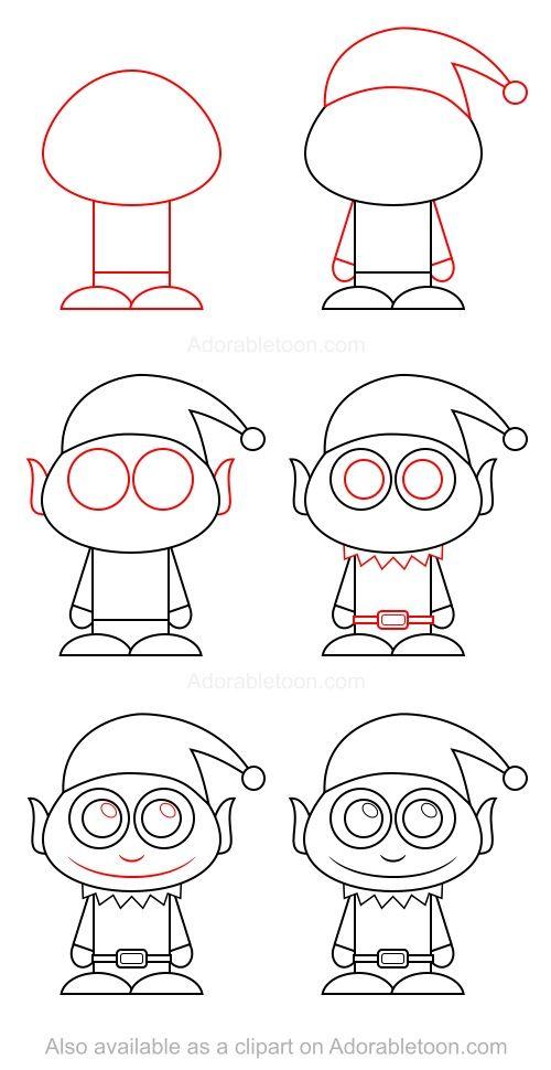 Comment dessiner un elfe ni os c mo dibujar dibujo - Dessiner un elfe ...
