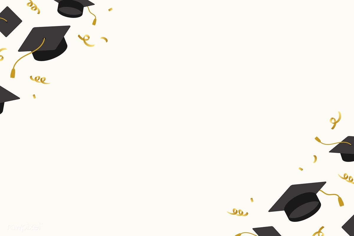 Graduation Background With Mortar Boards Vector Free Image By Rawpixel Com Ningzk V Vector Free Graduation Wallpaper Graduation Images