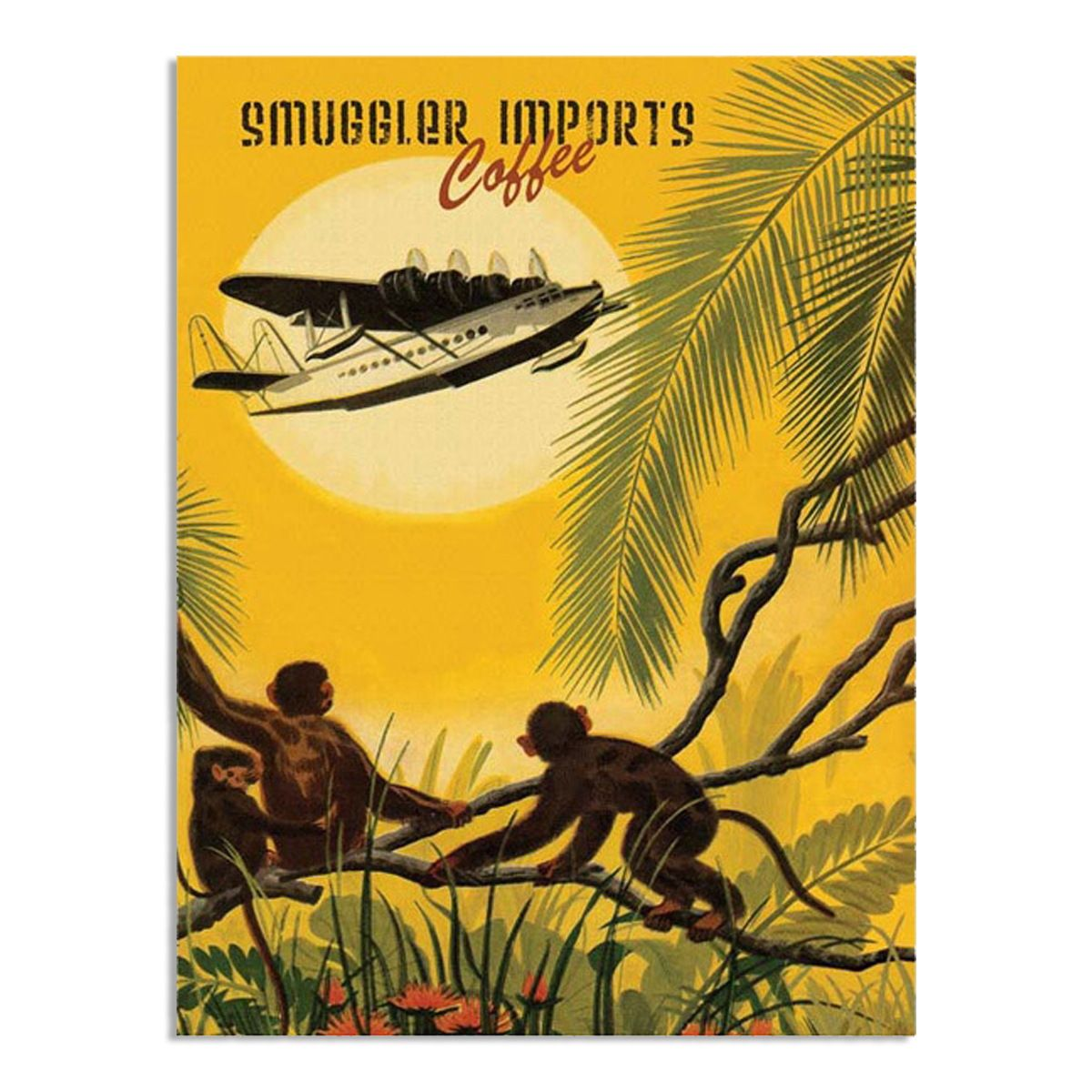 Smuggler Imports Coffee Tropical Metal Sign   Coffee display, Cafe ...