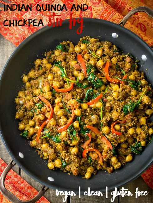 Indian Quinoa and Chickpea Stir Fry Recipe Indian food