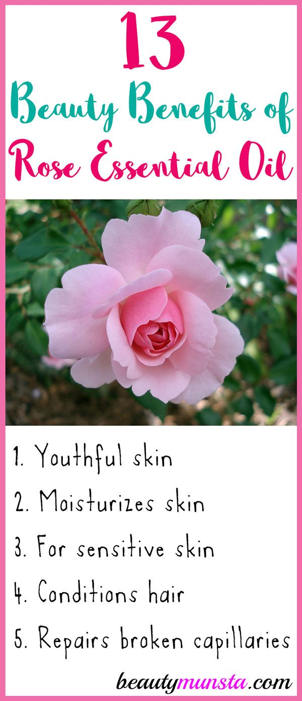 13 Beauty Benefits Of Rose Essential Oil Beautymunsta Free Natural Beauty Hacks And More Rose Oil Benefits Rose Essential Oil Rose Oil For Skin