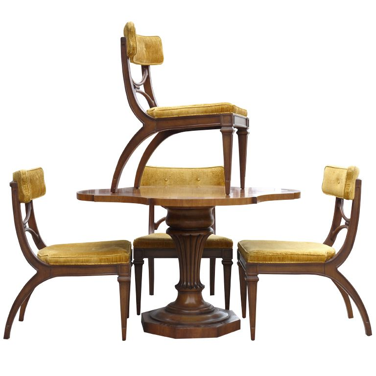 Vintage Tomlinson Game Table And Chairs