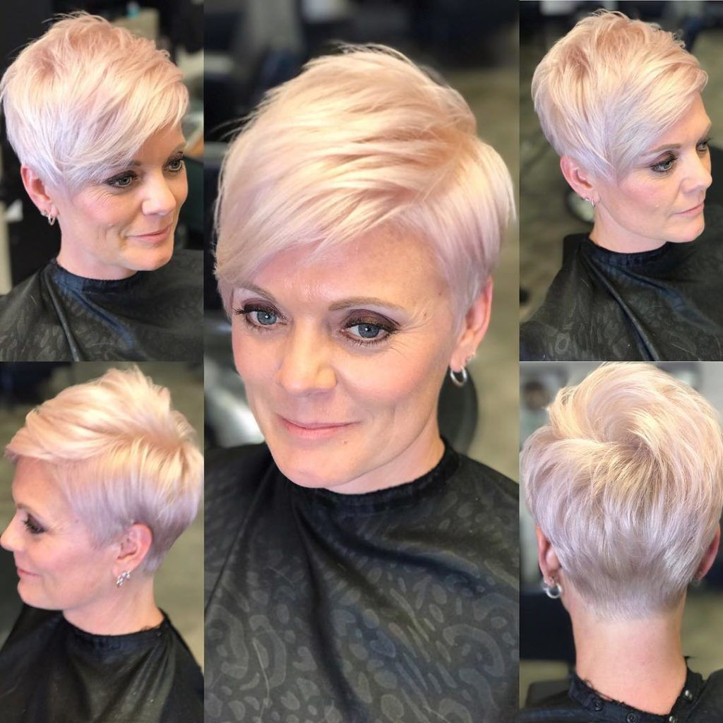 Chic Platinum Polished Pixie - The Latest Hairstyl