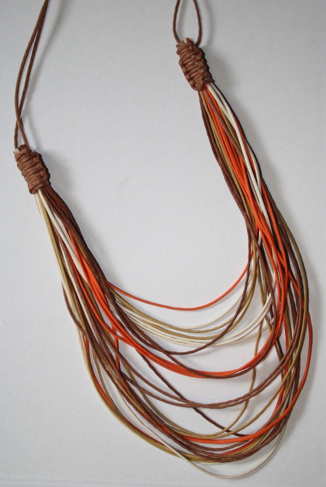 Colar Cordoes Jpg 1072 1600 Com Imagens Colares Artesanais