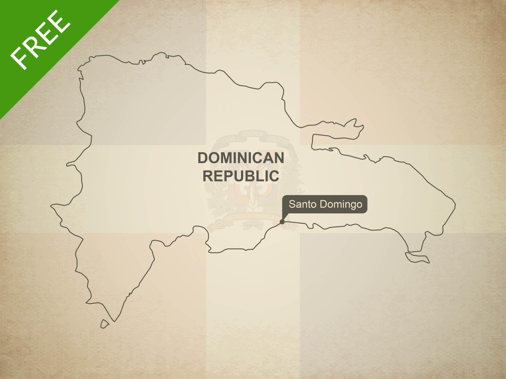 Free Vector Map of Dominican Republic Dominican republic