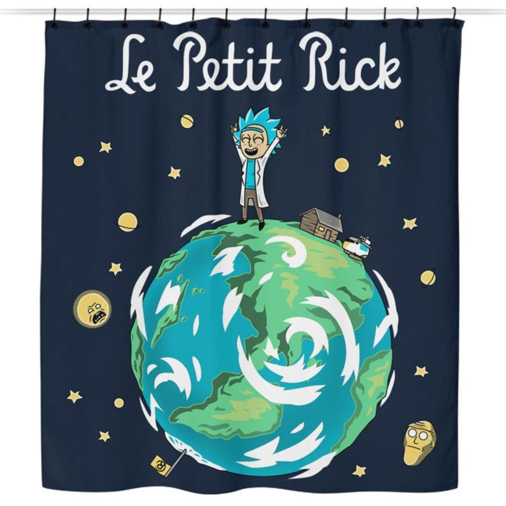 The Little Grandpa Shower Curtain Rick And Morty Poster Rick