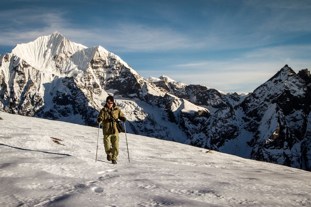 High altitude trekking in the Nepal Himalaya by Stuart