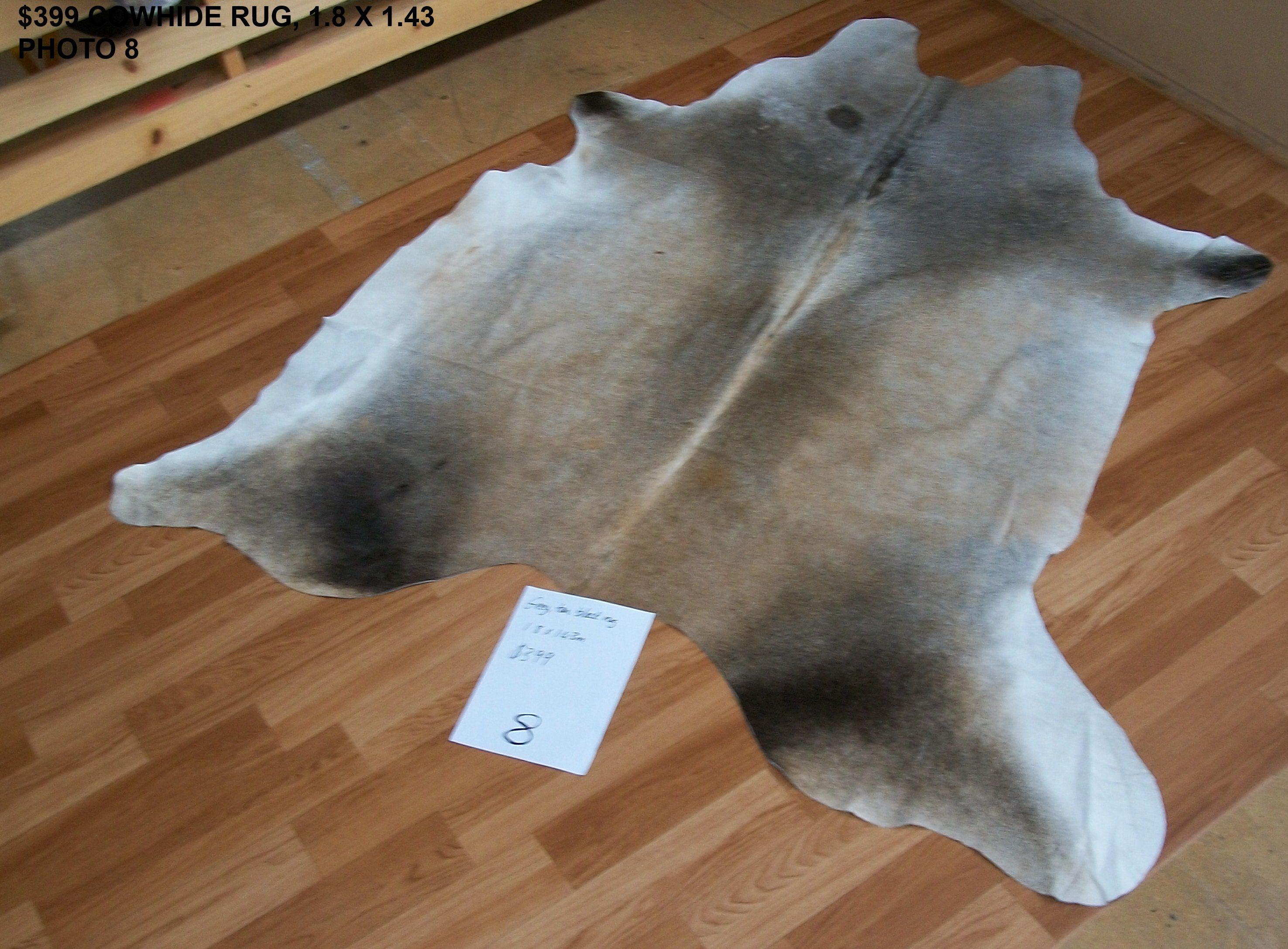 399 Smokey Grey Cowhide Rug Auckland New Zealand Lapco