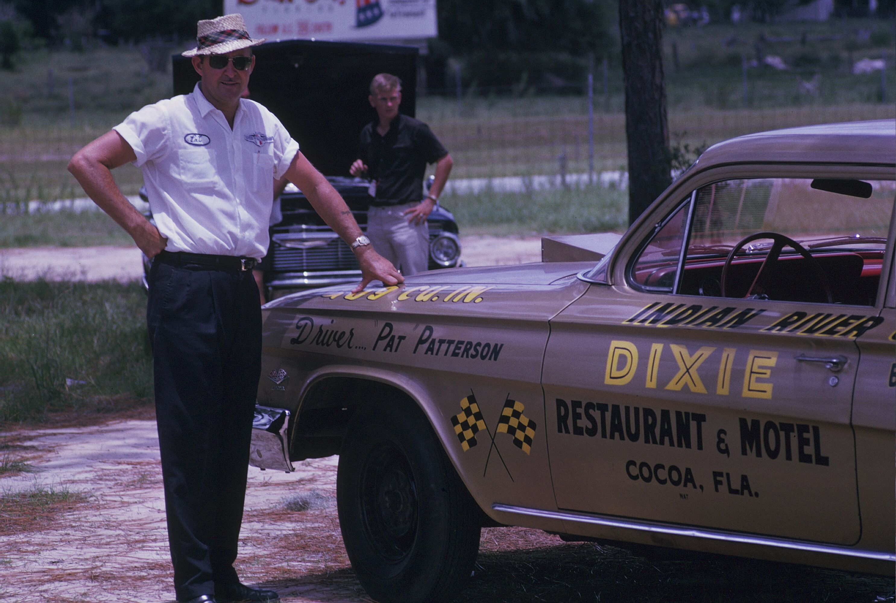 Pat Patterson was a local drag racer who raced this 409